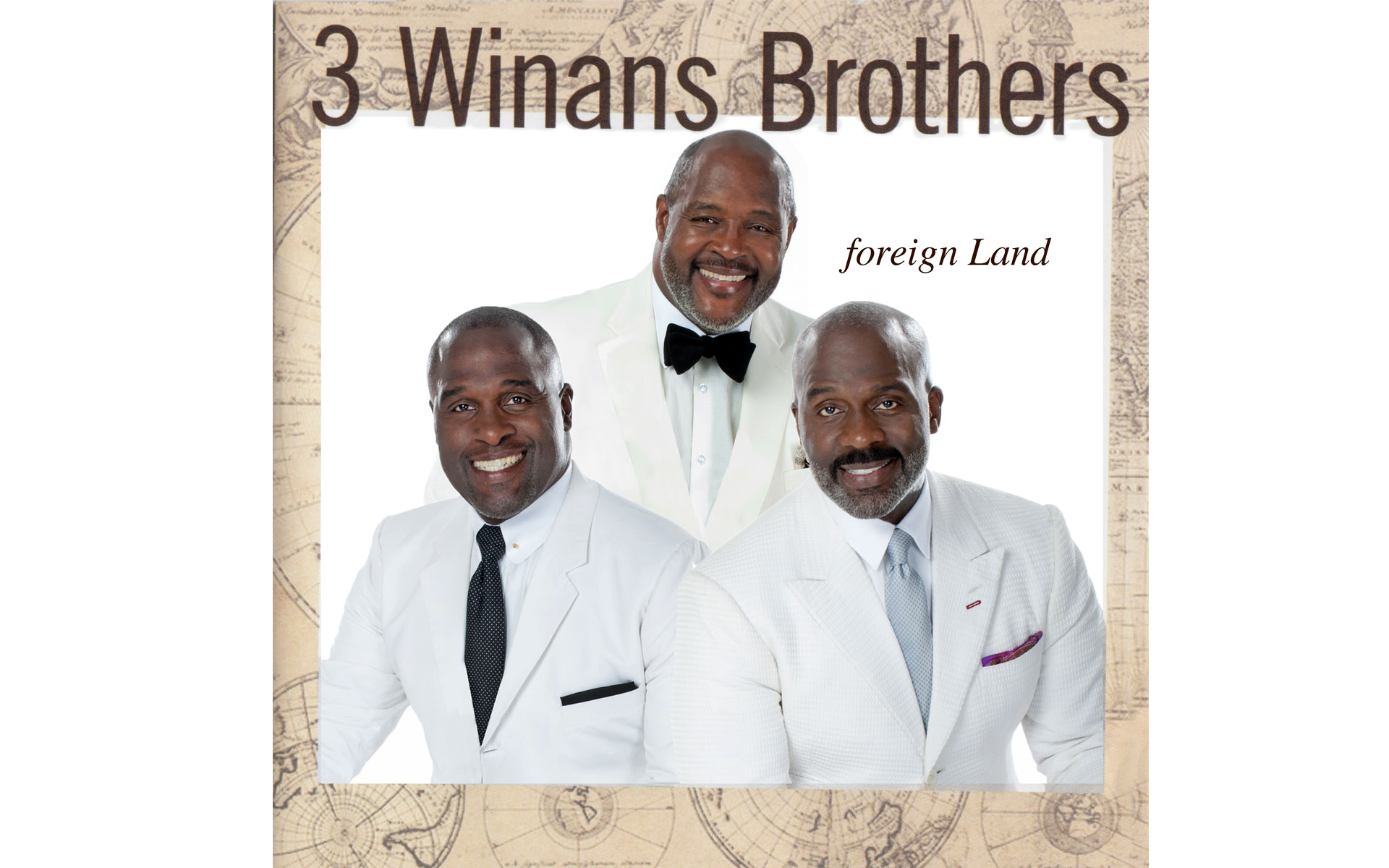 "CD Cover ""Foreign Land"" 3 Winans Brothers"